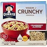 Quaker, Warm & Crunchy Granola, Cranberry Almond, 14.1oz Box (Pack Of 4)
