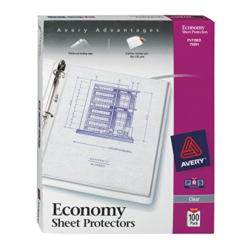 Avery Economy Clear Sheet Protectors, Acid Free (75091) (Home Filing Made Easy compare prices)