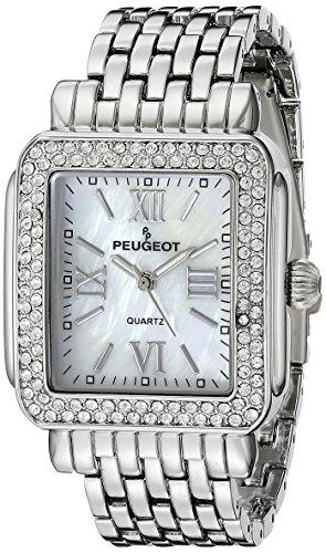 Peugeot 7080S Panther Link Silver-tone Bracelet Watch