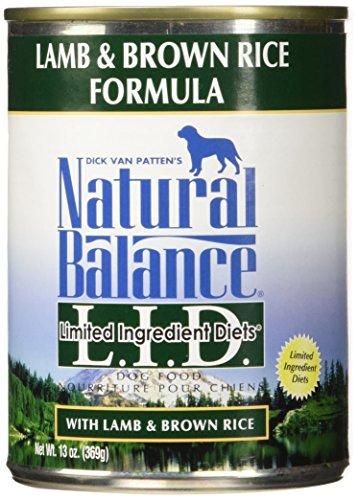 Natural Balance Lamb & Rice Formula Dog Food, 13 oz, Pack of 12 (Natural Balance Canned compare prices)