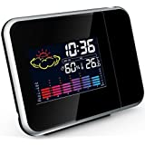 TechCode Projection Alarm Clock With Weather Station