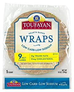 Low Carb/Low Sodium Wrap, Large 9-inch Burrito Size, 5 wraps