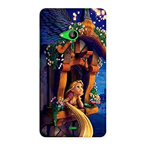 Delighted Angel Thinking Multicolor Back Case Cover for Lumia 535