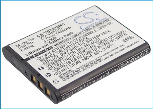 Battery2Go - 1 Year Warranty - 3.7V Battery For Panasonic Hx-Wa10Eg-A, Hx-Dc1Eb-W, Hx-Wa10Eb-K, Hx-Dc1Ef-H, Hx-Wa10Eb-D