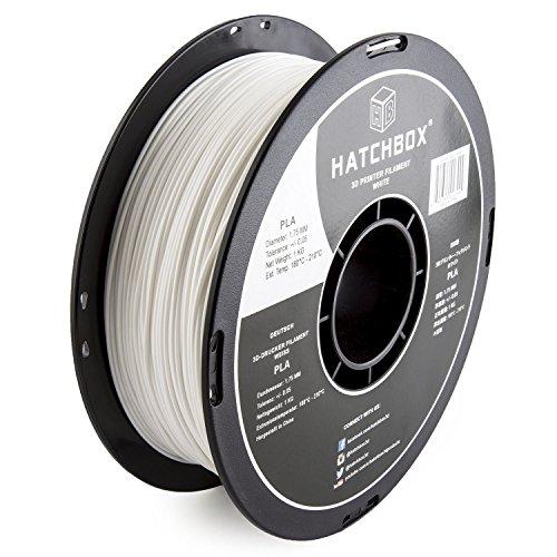 HATCHBOX-3D-PLA-1KG175-WHT-PLA-3D-Printer-Filament-Dimensional-Accuracy-005-mm-1-kg-Spool-175-mm-White