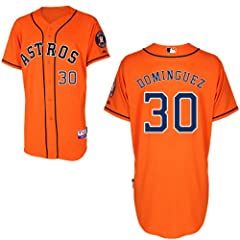 Matt Dominguez Houston Astros Alternate Orange Authentic Cool Base Jersey by Majestic by Majestic