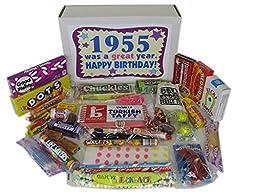 1955 61st Birthday Gift Basket Box Jr. Retro Nostalgic Candy Decade 50s