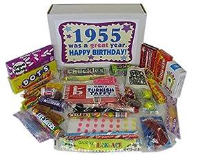 50's Retro Candy Decade 60th Birthday Gift Box Jr. - Nostalgic Candy: 1955
