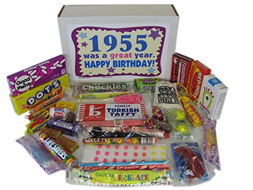 50s Retro Candy Decade 60th Birthday Gift Box Jr