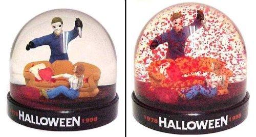Halloween Michael Meyers Blood Snow Dome