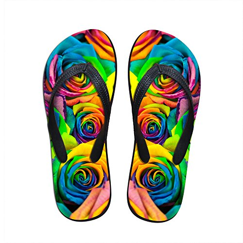 For U Designs Colorful Floral Sandal Slipper Comfortable Shower Beach Shoe Slip On Flip Flop US 9