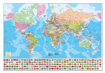 Cheap Fun Educa Borras 1500 Piece Puzzle – Map of the World (B003JHUCPO)