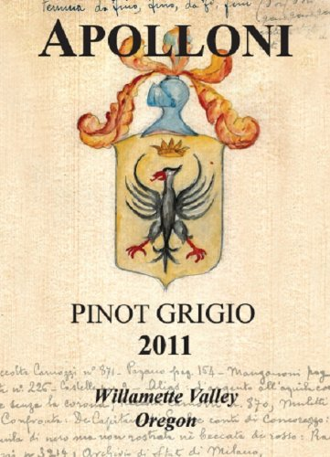 2011 Apolloni Willamette Valley Estate Pinot Grigio 750 Ml