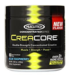 MuscleTech Creacore, Concentrated Creatine HCL Powder, Blue Raspberry, 80 servings, 9.88 oz (280g)