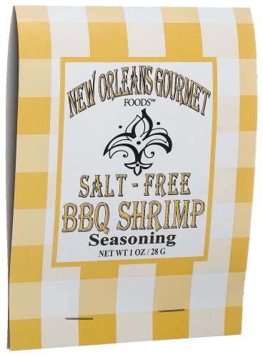 Buy New Orleans Gourmet Foods Salt-Free Bbq Shrimp Seasoning Mix, 1-Ounce Bags (Pack of 8) (New Orleans Gourmet Foods, Health & Personal Care, Products, Food & Snacks, Canned & Packaged Goods)