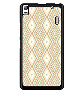 PrintDhaba Pattern D-5230 Back Case Cover for LENOVO A7000 (Multi-Coloured)