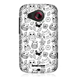 Head Case Designs Flowers and Leaves Doodle Owl Design Back Case Cover for HTC Desire C