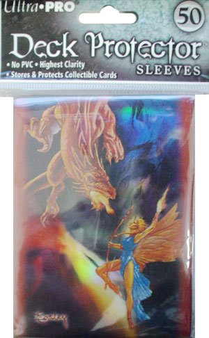 Ultra Pro Deck Protector - Jeff Easley - Battle (Holo) - Gaming Sleeve - Includes 50 Pack of Standard Size Deck Protector Sleeves