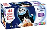 Felix As Good as it Looks Favourites Selection in Jelly '44 x 100 g Pouches'