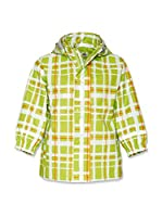 Playshoes Chaqueta Impermeable Check (Verde)