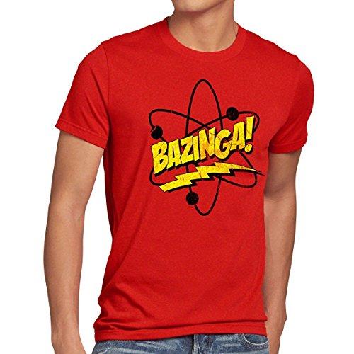 CottonCloud Sheldon Atomo T-shirt da uomo, Dimensione:XL;Colore:rosso