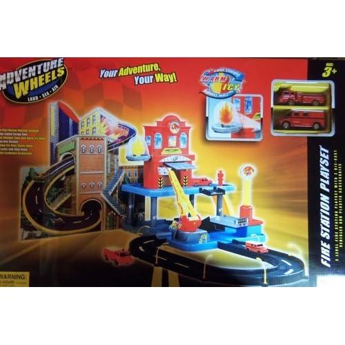 Amazon.com: Adventure Wheels Fire Station Playset