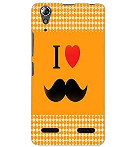 LENOVO A6000 I LOVE MUSTACHES Back Cover by PRINTSWAG