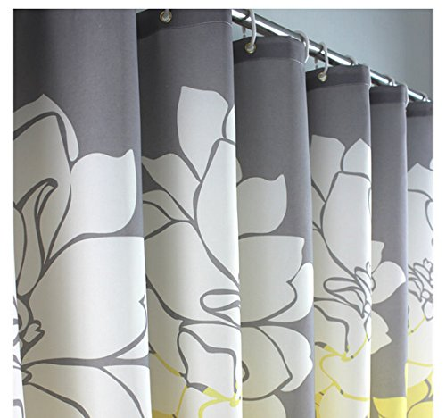Eforgift floral printed fabric shower curtain polyester for Do shower curtains come in different lengths