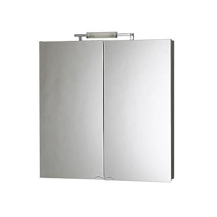 Mirror Cabinet Contoured Aluminium 65 x 72.5 x 16 cm