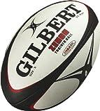 Gilbert ZENON TRAINER ラグビーボール練習用5号 黒x赤