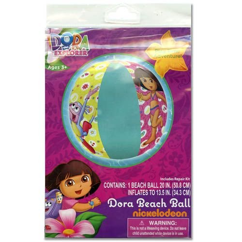 "Dora Inflatable 20"" Beach Ball - 1"