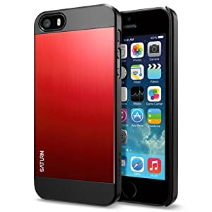 iPhone 5S Case, Spigen Saturn Case for iPhone 5S/5 - Retail Packaging - Metal Red (SGP10143)