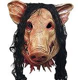(ユウラン)YouranHalloweenハロウィン仮面お面Saw豚豚の頭動物変装 マスク雑貨グッズマスクコスプレグッズマスクハロウィンコスプレコスチューム衣装変装かぶりものアニマルパーティー動物仮面どうぶつ