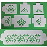 Damask Deluxe Stencil Set Cakes Cake Decorating 7 Stencil Set