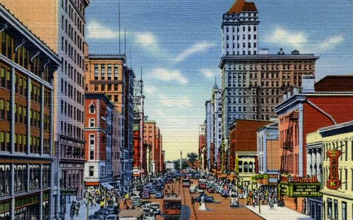Downtown Dayton, Ohio, ca. 1940 - Fine-Art Gicl??e