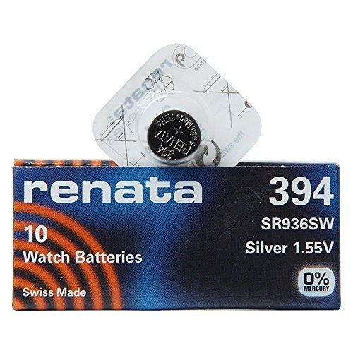 Renata 394 SR936SW Lot de 1 x (10) 1,55 V Argent pour Montre fabriqué en Suisse
