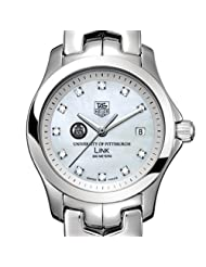 University of Pittsburgh TAG Heuer Watch - Women's Link with Mother of Pearl