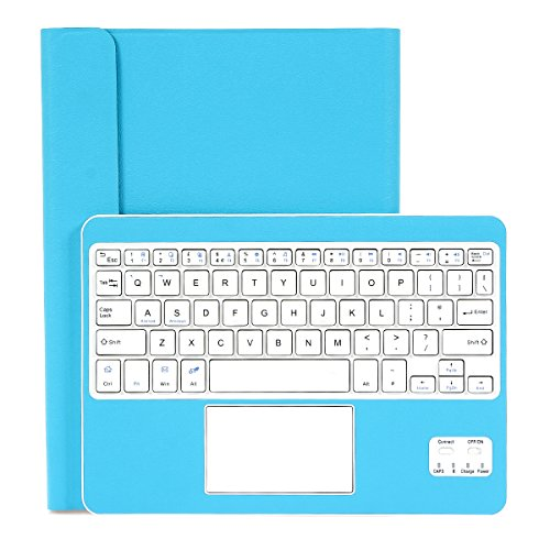CoastaCloud Universal Folio Case w/Stand Wireless Bluetooth Keyboard case cover for Android Windows System Fits for 9