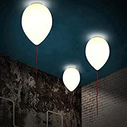 OAGTECH Creative Modern Glass Balloon Ceiling Light Children Lamp Two Sizes (Size S)