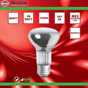 Bulk Hardware BH00565 ES R63 Reflector Lamp, 60 W - Pack of 5 by Bulk Hardware Ltd