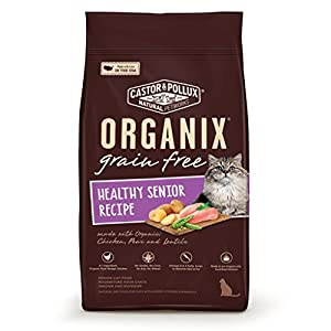 Organix Grain Free Healthy Senior Recipe Dry Cat Food, 4-Pound