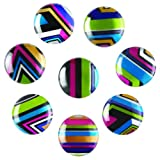 Quartet Magnets, 1-Inch, Multicolor, 8 Pack (27953)