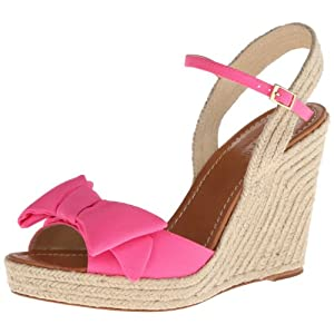 kate spade new york Women's Jumper Wedge Sandal,Zinnia Pink,7.5 M US