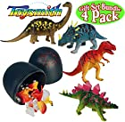 Toysmith 3-D Dino Puzzle in Jurassic Egg Complete Gift Set Bundle - 4 Pack
