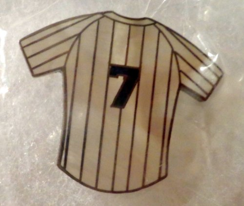 Vintage New York Yankees Retired Number PIN STRIPES SHIRTS Hat Lapel Pins Set of 15 Very Collectible. Mickey Mantle #7 Babe Ruth #3 Joe DiMaggio #5 Lou Gehrig #4 Yogi Berra #8 Roger Maris #9 Thurman Munson #15 and More. What a Great Gift!! at Amazon.com