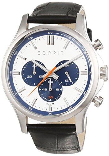 Esprit ES108251003 - Reloj de pulsera hombre, Cuero, color Negro