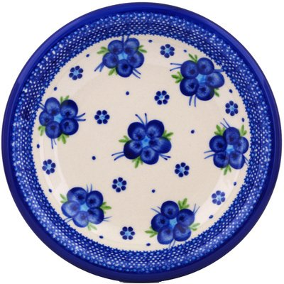 Polmedia Polish Pottery 9-Inch Stoneware Pasta Bowl H7182G Hand Painted From Cer-Maz In Boleslawiec Poland. Shape S074E(105) Pattern P4849A(D1)