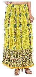 Magnus Women's Long Skirt (SKT473, Yellow, S)