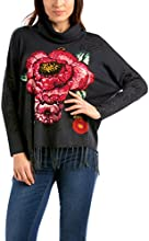 Desigual Bel - Pull - Manches longues - Femme - Noir (Negro) - FR: 40 (Taille fabricant: L)