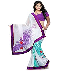 My online Shoppy Chiffon Saree (My online Shoppy_16_White)